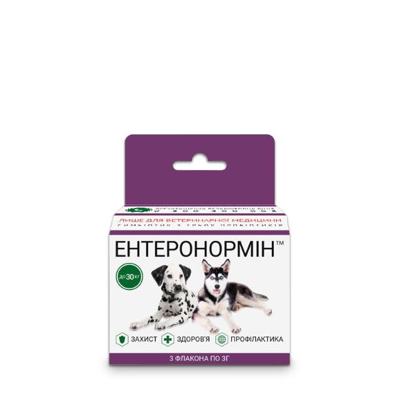 ЕНТЕРОНОРМІН™ з Йодіс+Se для домашніх улюбленців до 30кг (6 флаконів 3г+15мл)